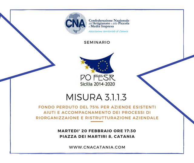 """Seminario:-""""Misura-3.1.1.3,-Fondo-PO---FESR-2014---2020"""""""